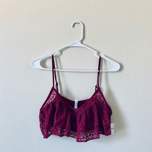 Free People NWT XS Flounce Crop Top